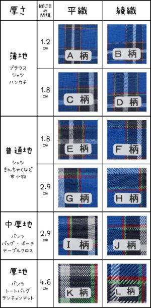画像5: 【先染平織・厚地】神戸タータン播州織コットン K柄・厚平織 【1m単位】※お取り寄せ