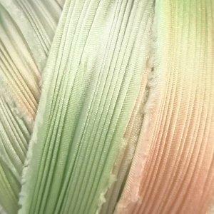 画像1: シルク絞りリボン サクレント Succulent 【地色:イエローグリーン】現品限り