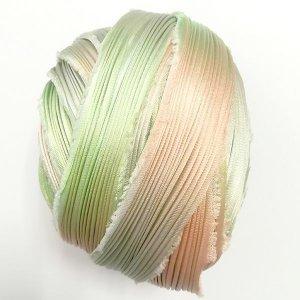 画像2: シルク絞りリボン サクレント Succulent 【地色:イエローグリーン】現品限り