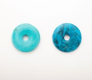 画像1: フォーカルターコイズ ドーナツ型 Bead Art 39号 作品 使用パーツ