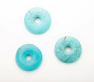 画像2: フォーカルターコイズ ドーナツ型 Bead Art 39号 作品 使用パーツ