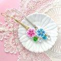 お花の根付☆金桜銀桜(ピンク/ブルー) by フロリッサ 西富士絵
