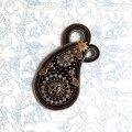 【再入荷!】Paisley ブローチ/ネックレス・ブラック(2wayスタイル) by 腰本優子