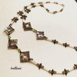 画像1: デイジーフレームネックレス by Beads工房 brilliant 大槻友美