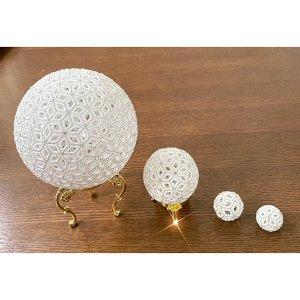 画像5: 小さいレースボール(白) by フロリッサ 西富士絵