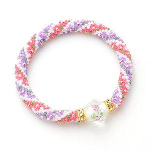 画像1: 【Bead Art 24号掲載】基本のチューブクロッシェ 紫陽花カラーの花束【1段8目】 by フロリッサ 西富士絵