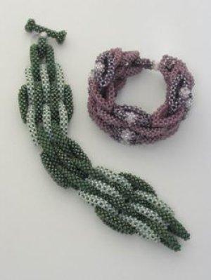 画像1: 【50%OFF】Right angle weave Linked Bracelet(ブルー)