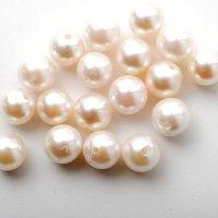 【上質】アコヤ真珠(片穴 / ラウンド / ホワイト / 6mm UP)1個