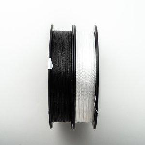 画像3: 太めの高強度の糸!!パラシュートコード45m(ブラック/ ホワイト /30LB)